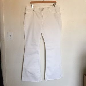 White Flare Cut Off Denim from Gap Outlet 12/31